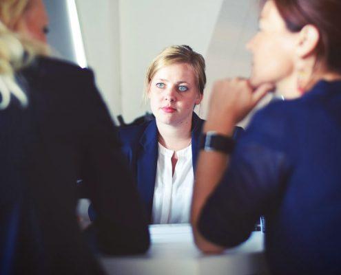 sollicitatiegesprek aandacht in de zorg drie vrouwen