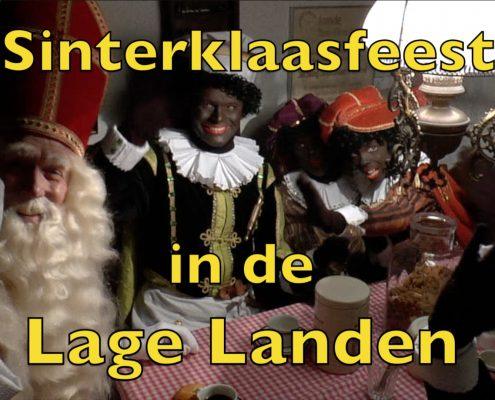 Sinterklaas Zwarte Piet Sinterklaasfeest aan tafel Lage Landen Nederland